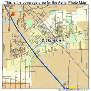 aerial photography map of dickinson tx