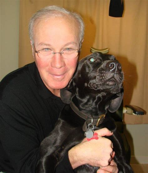 maine optometric association tom nadeau and his rhodesian ridgeback and patient