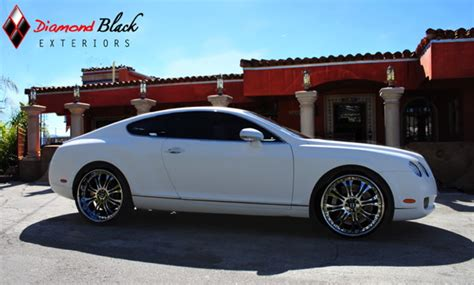 matte white bentley bentley gt wrapped in matte white black