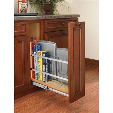 kitchen cabinet divider rack rev a shelf 20 in h x 5 in w x 22 in d pull out wood