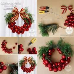 how to diy christmas bauble wreath www fabartdiy com