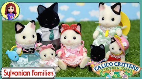 Sylvanian 5181 Tuxedo Cat Family sylvanian families calico critters day trip accessory set