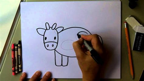 how to make easy doodle how to draw a cow easy drawing tutorial for