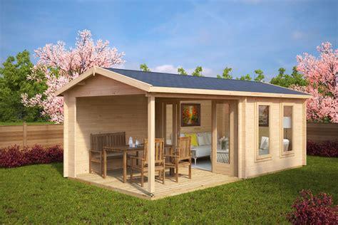 veranda kaufen gartenhaus mit terrasse nora e 9m 178 44mm 3x6