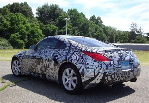 nissan 370z custom paint jobs why get a paint job when you can use sharpies nissan