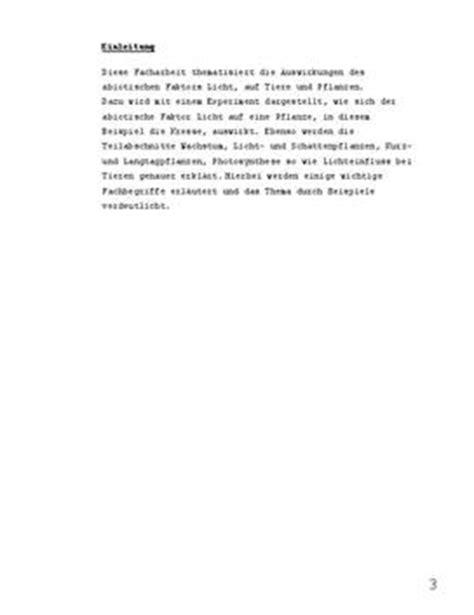 Vorwort Schreiben Muster Facharbeit Facharbeit Wachstum Biologie Schulhilfe De