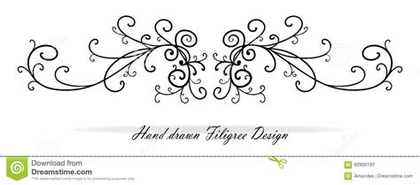 beautiful fancy scroll design paragraph or text underline
