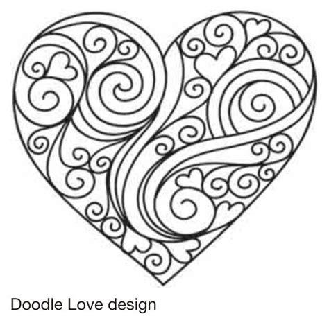 heart doodle coloring page srd 237 čko omalov 225 nky pinterest design heart doodle