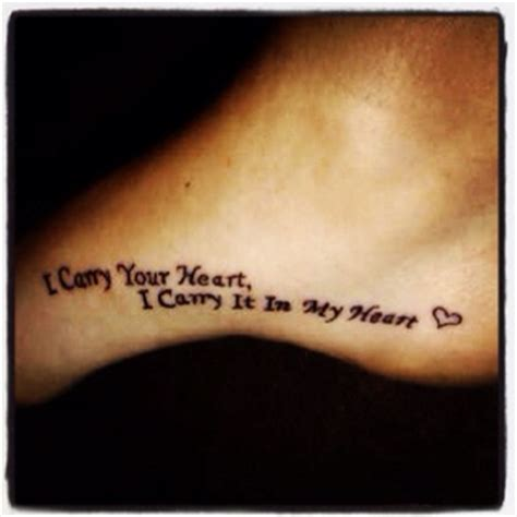 i carry your heart tattoo designs my quot i carry your i carry it in my