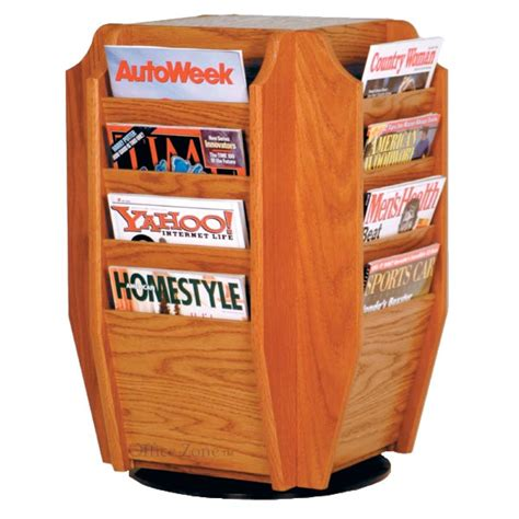 Rotating Magazine Rack by Wooden Mallet Mr16 Tt Revolving 16 Pocket Magazine Rack