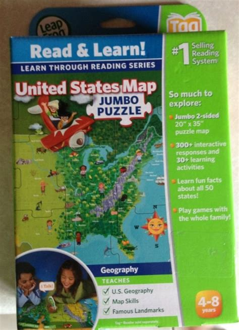 leapfrog leapreader interactive us map puzzle leapfrog leapreader interactive united states map puzzle