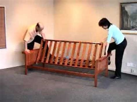How To Put A Futon Together by Futon Assembly How To Assemble A Futon Frame Bronze