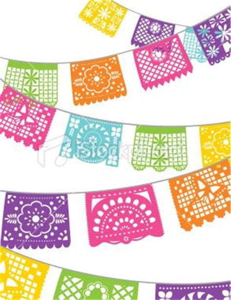 How To Make Mexican Paper Banners - paper banners royalty free stock vector
