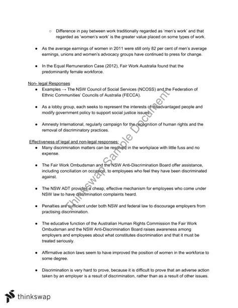 enterprise bargaining agreement template workplace notes year 12 hsc studies thinkswap