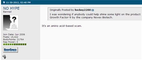 factor 9 supplement growth factor 9 by novex biotech ingredients same as