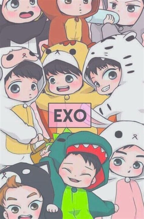 exo anime i just love these little chibi exo fanarts 3 fanart