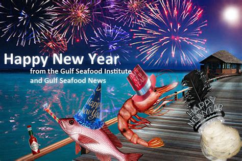 new year and fish happy new year from the gulf seafood institute and gulf