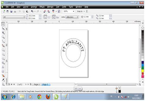 desain kemasan dengan coreldraw x4 antelu cara membuat desain stempel dengan coreldraw x4