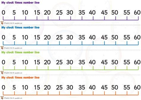 printable number line 0 60 pin by nora basler on teachin time pinterest