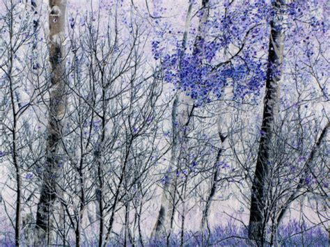 blue and white painting miscellaneous blue and white print aspens