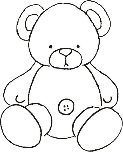 free teddy template teddy templates coloring home