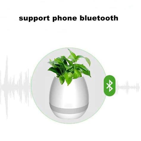 Speaker Bluetooth Motif Bunga flower pot vas bunga dengan speaker bluetooth white