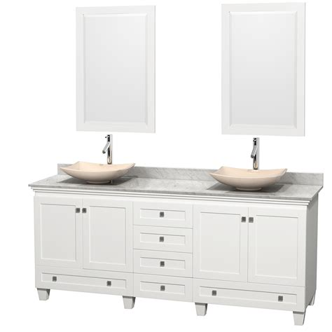80 Inch Bathroom Vanity Wyndham Collection Wcv800080dwhcmgs5m24 Acclaim 80 Inch Bathroom Vanity In White White