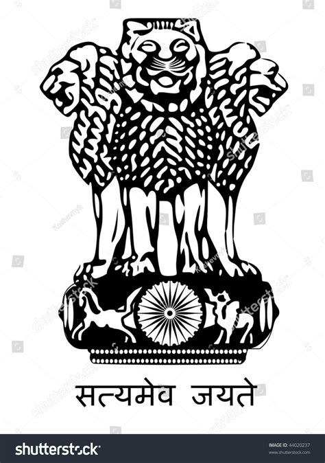 National Bird Of India Outline by National Emblem India Stock Vector 44020237