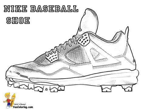 nike football coloring page pin baseball cleat colouring pages on pinterest
