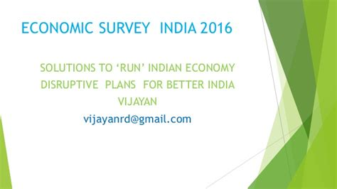 Indian Economy 2016 Essay by Economic Survey India Solutions 2016 New Thoughts