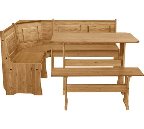 Luzern Dining Set Corner Bench by Buy Home Solid Wood Nook Table 3 Corner