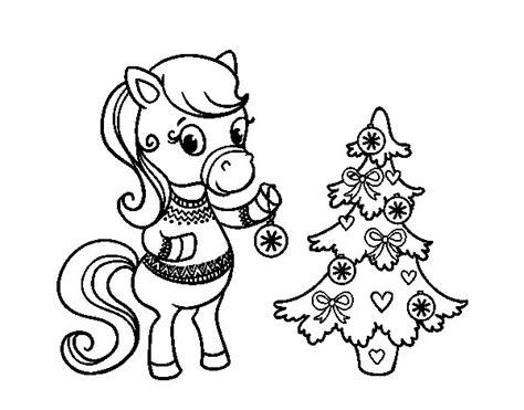dibujos de navidad para colorear dibujosnet dibujo de poni navide 241 o para colorear dibujos net