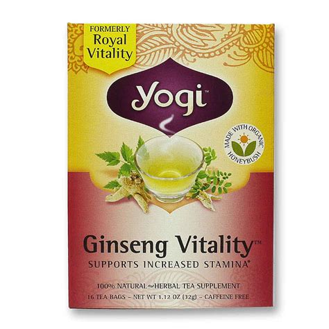Ginseng Tea yogi tea organic teas ginseng vitality organic tea 16