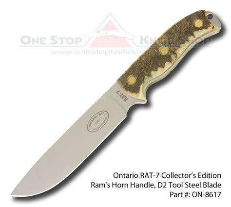 ontario rat 7 knife on 8617 ontario rat 7 collector s series d2 blade ram s