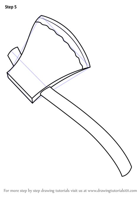 tools to draw learn how to draw fireman axe tools step by step
