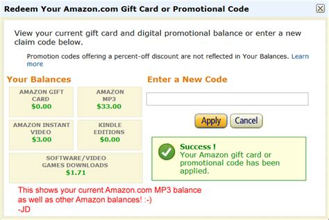 amazon mp3 downloads coupon showing your mp3 gift card kindle balance