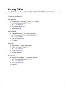 resume reference sheet examples 2