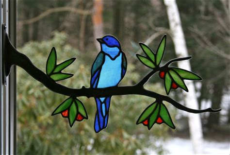 stained glass birds by chippaway art glass