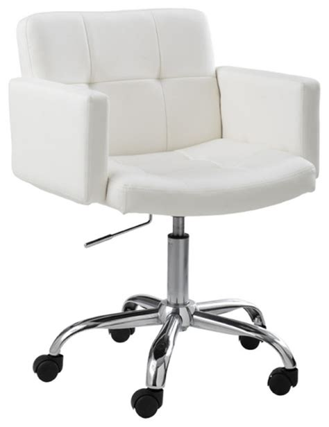 White Leather Office Chair Design Ideas Churchill Office Chair White Modern Office Chairs By Inmod