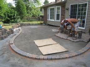 patio design ideas concrete backyard