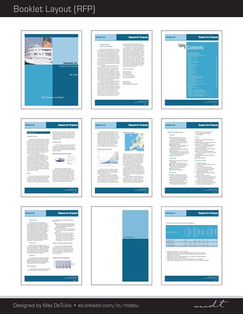 page layout for proposal extracted pages of a request for proposal rfp booklet