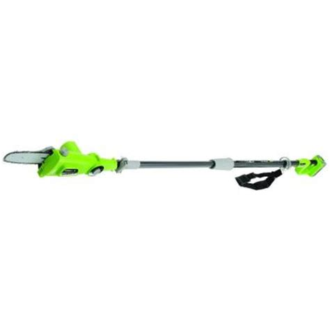 earthwise 8 in 20 volt lithium ion cordless electric pole
