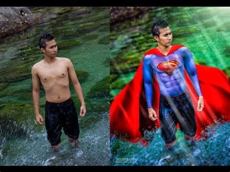 tutorial edit foto jadi lukisan photoshop tutorial how to make a fun superman edit