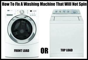 washer machine or washing machine how to fix a washing machine that is not spinning or