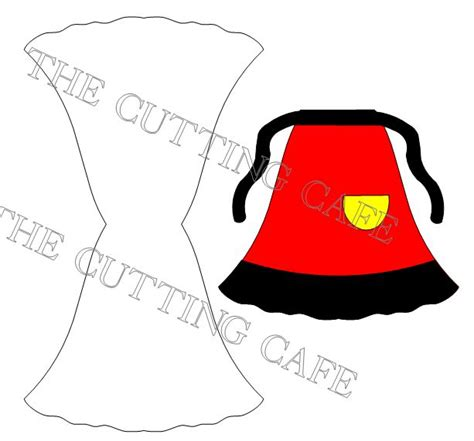 apron shaped card template the cutting cafe apron shaped card set template