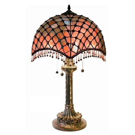 warehouse of tiffany table ls warehouse of tiffany 25 in bronze beaded 2 light indoor