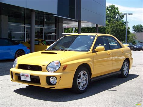 yellow subaru wagon 2003 sonic yellow subaru impreza wrx sedan 13874364