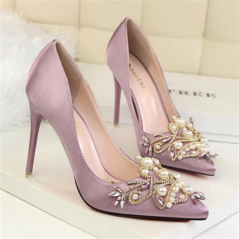 luxury pink brand wedding shoes bigtree brand