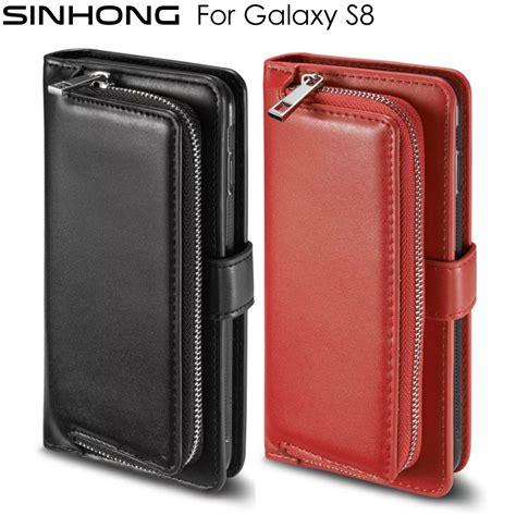 Samsung S8 Flip Wallet Premium Leather Card Slot Sinhong Premium Leather Wallet Phone For Samsung