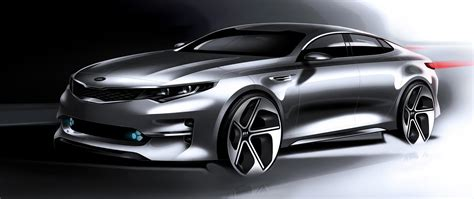 new 2016 kia optima sketches hint at sporty looking